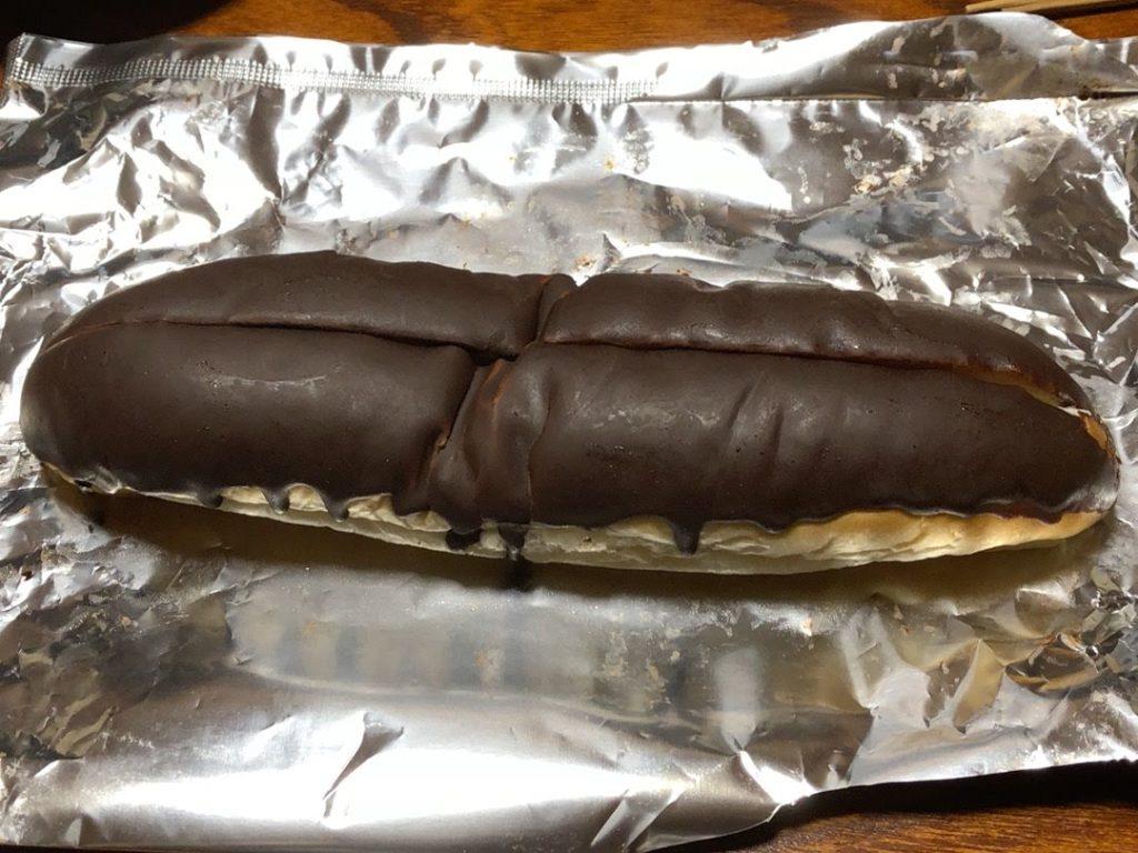 チョコがかかったパン