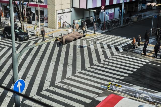 名古屋市栄のスクランブル交差点