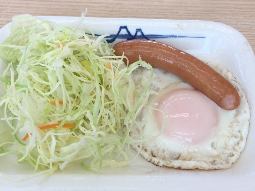 ソーセージエッグ定食 450円