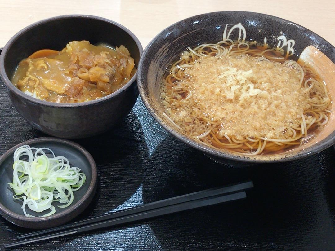 カレー丼と蕎麦のセット